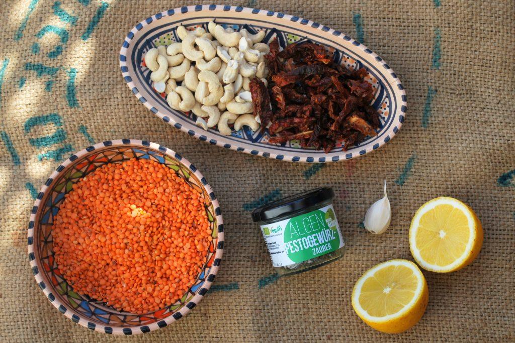 Red Lentil Pesto Spread