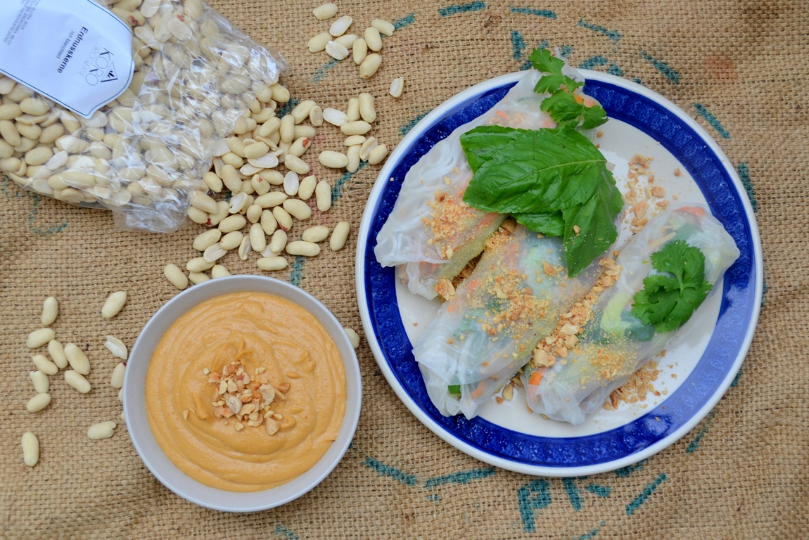 Summer Rolls with Peanut Sauce (Vegan and Oil Free)