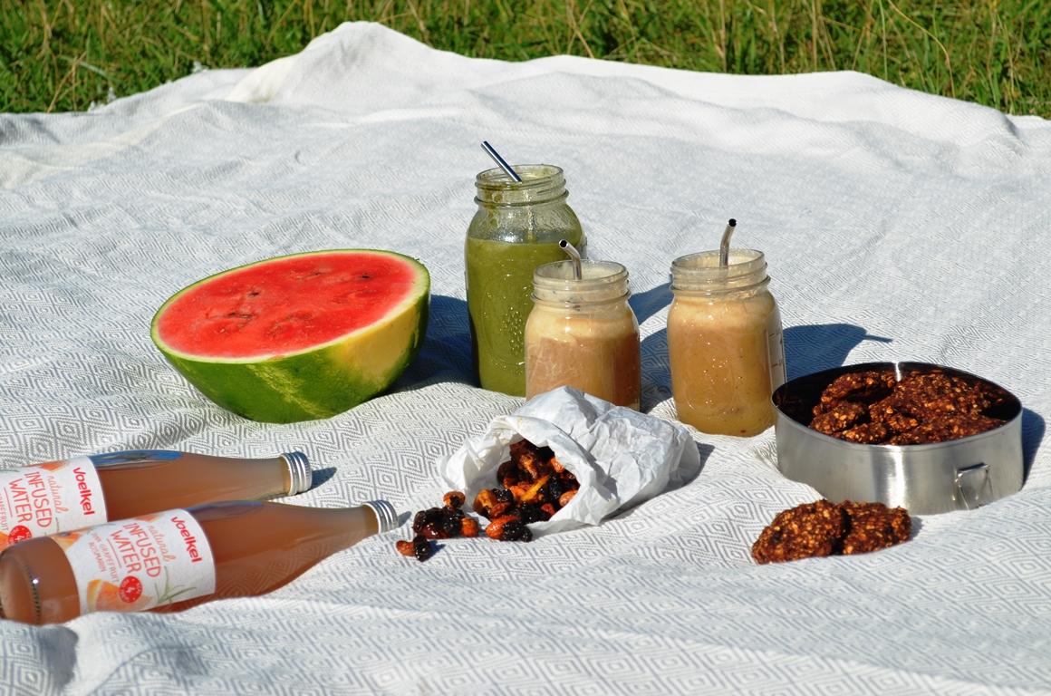 Vegan Breakfast Picnic at the Lake