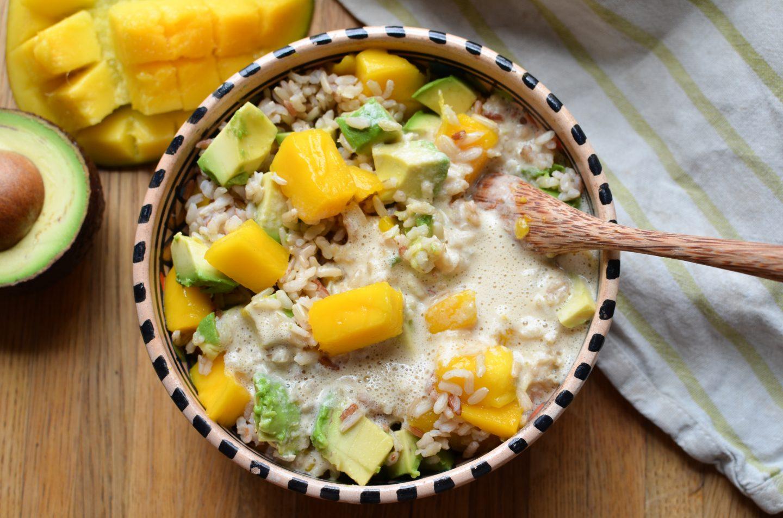 My Favorite Summer Salad 2019: Rice, Mango, and Avocado!