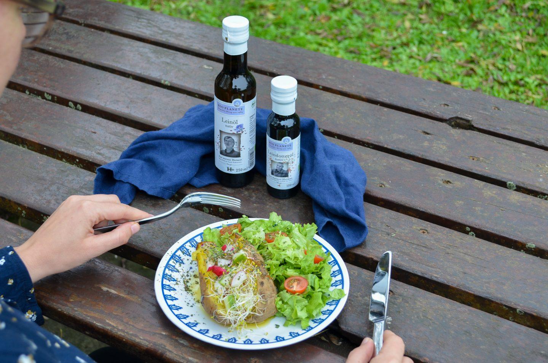Mein Heimweh-Rezept: Ofenkartoffel mit Leinöl von BIO PLANÈTE