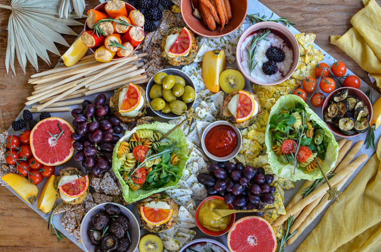 Unsere vegane Silvester-Platte: mit Byodo